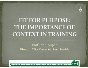 COUPER-Fit-for-purpose