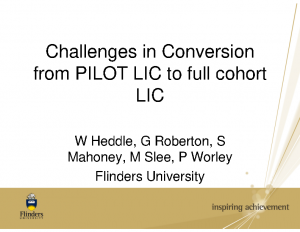 HEDDLE-Challenges-in-Conversion-from-PILOT-LIC-to-full-cohort-LIC