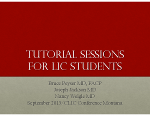 Jefferson-MON-400pm-PEYSER–Tutorial-Sessions-for-LIC-Students